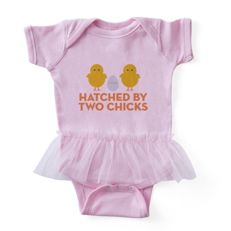 CafePress - Hatched By Two Chicks - Cute Infant Baby Tutu Bodysuit