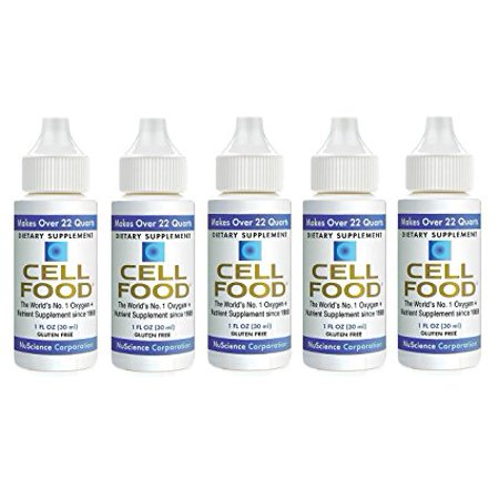 Cellfood Liquid Concentrate, 1 oz. Bottle (Pack of 5) - Original Oxygenating Formula Containing Seaweed Sourced Minerals, Enzymes, Amino Acids, Electrolytes, Superior Absorption- Gluten Free, GMO (Best Source Of Electrolytes)