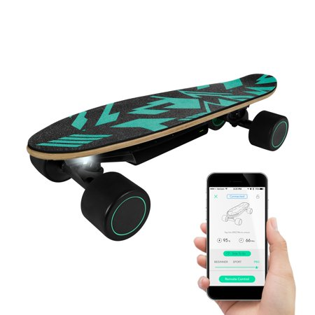 Remote Control Skateboard >> Swagtron Swagskate Spectra Mini Ai Electric Skateboard Hands Free Cruiser Skateboard With App 5 6 Mi Per Charge 9 3 Mph Fast Charging Remote