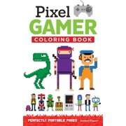 Pixel Gamer Adult Coloring Book: Perfectly Portable Pages