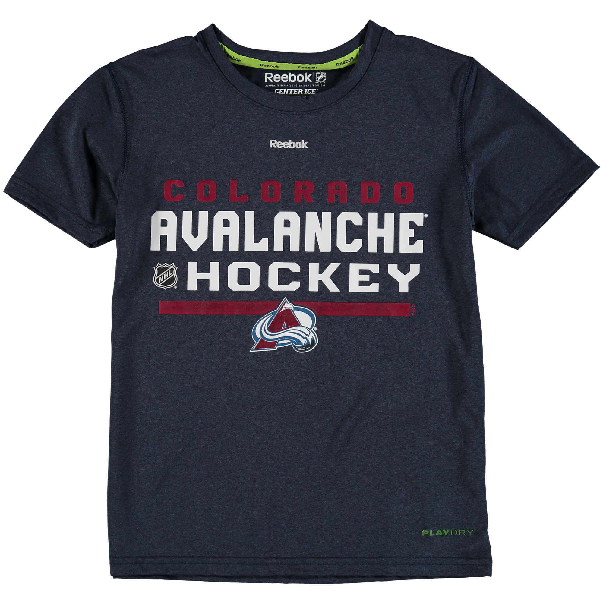 Colorado Avalanche Reebok Youth Authentic Freeze PlayDry T-Shirt - Navy