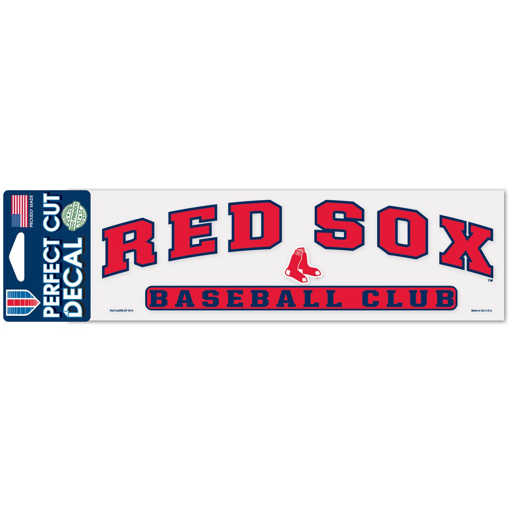 "Boston Red Sox WinCraft 3"" x 10"" Arch Perfect Cut Decal - No Size"
