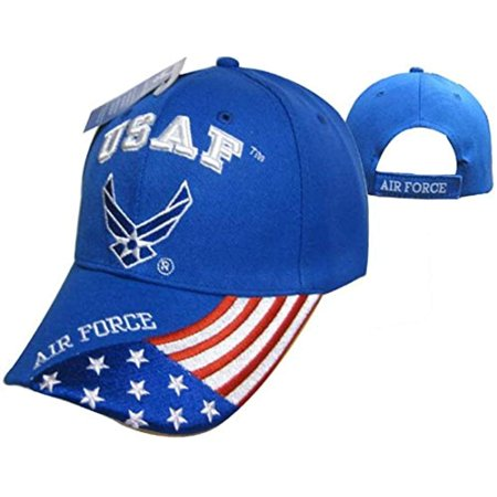 United States Air Force Officially Licensed Men's Adjustable Baseball Caps (Blue