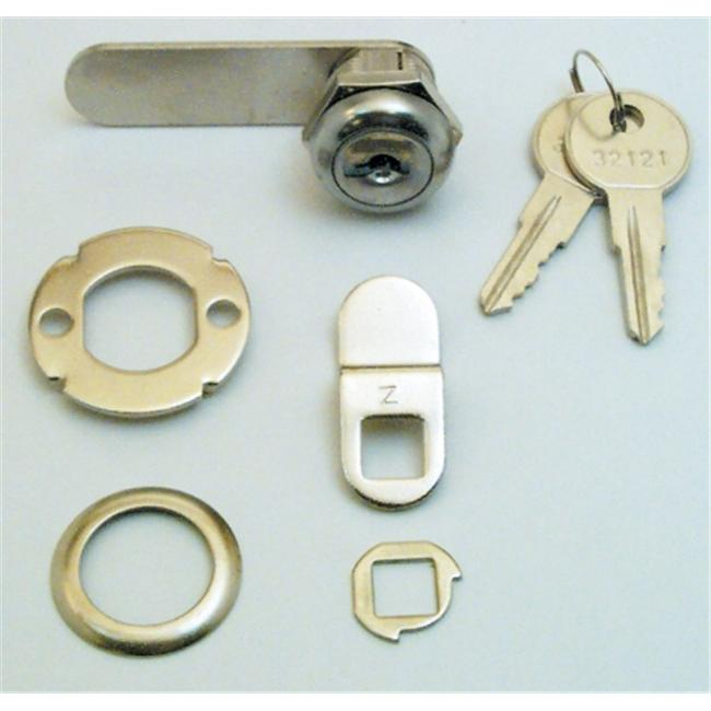 Prime Line Products .63in. Chrome Drawer & Cabinet Lock  U9941 - image 1 of 1