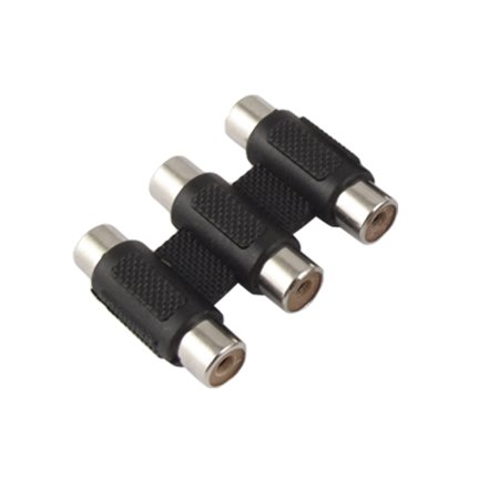 RCA Black Female to Female Audio Video Coupler Adapter - image 1 of 1