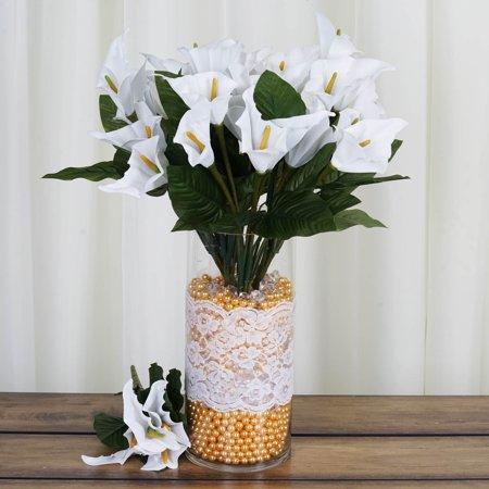 Classic White Lily - BalsaCircle 84 Silk Calla Lily Flowers - DIY Lilies Home Wedding Party Artificial Bouquets Arrangements Centerpieces