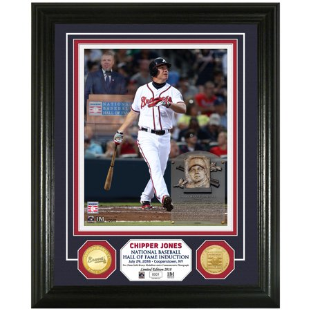 Chipper Jones Atlanta Braves Highland Mint Hall of Fame 2018 Player Induction Day Photomint - No Size ()