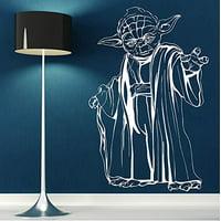 "Decal ~ Great Master Yoda ~ Star Wars Theme ~ Wall or Window Decal 20"" x 30"""