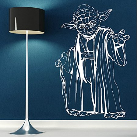 Decal ~ Great Master Yoda ~ Star Wars Theme ~ Wall or Window Decal 20