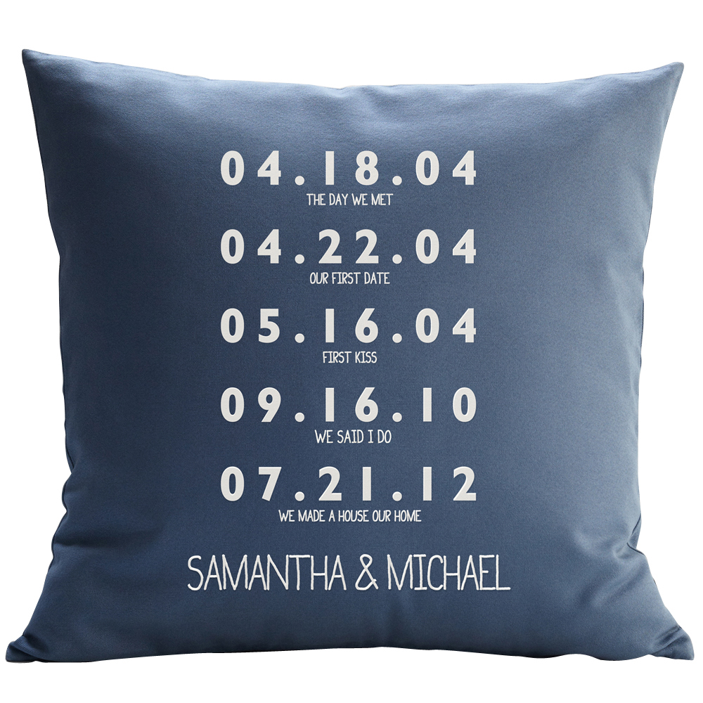"RedEnvelope Couple's Diagram Throw Pillow with Insert, 12"" x 18"", Blue"