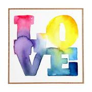 Deny Designs Love 4 Framed Art Print CMYKaren Wall Art