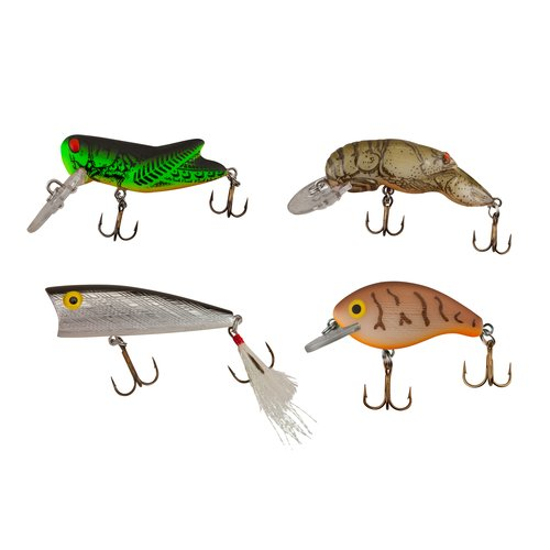 Rebel Topwater Hardbait 4-Pack
