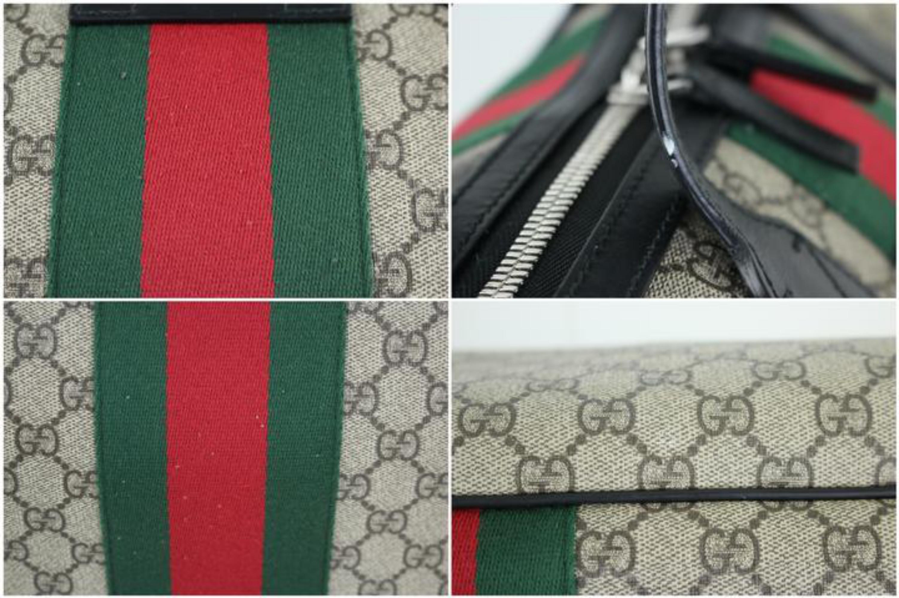 4ed02e1a84 Gucci Gg Supreme Web Duffle 2way 9gt914 Black Travel Bag - Walmart.com