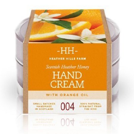 100% Natural Scottish Heather Honey Hand Cream with Sweet Orange Oil by Heather Hills Farm (50g) by Heather Hills Farm (Hills Have Cream)