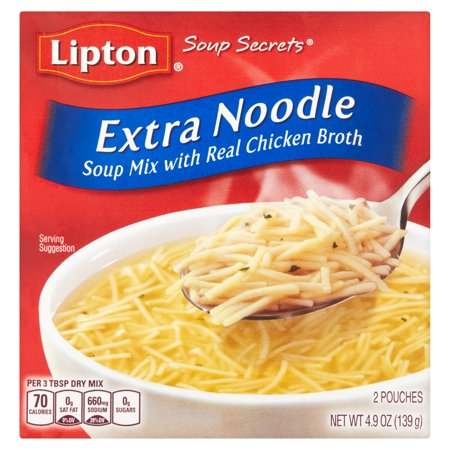 Lipton Soup Secrets Extra Noodle Soup Mix, 4.9 oz
