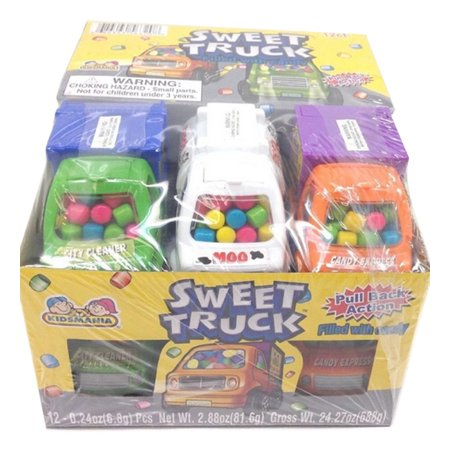 Kidsmania Sweet Truck Novelty Candy Toy, (Pack of 12) - Sweet Tart Candy