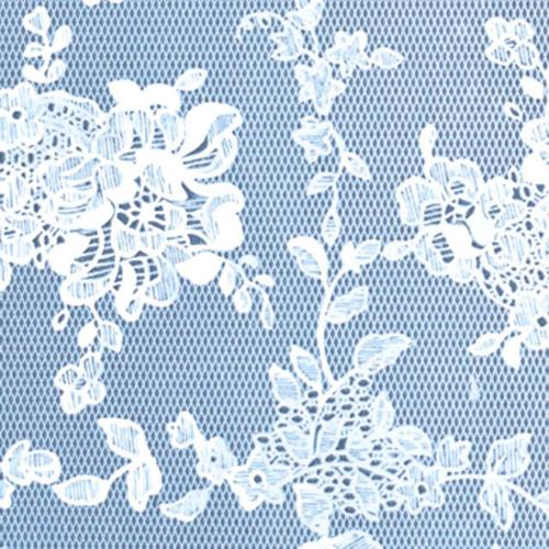 "Deluxe Flannel Backed Vinyl 54"" Wide 15 Yard Roll-Blue Lace"