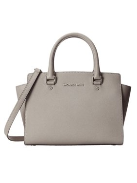 80eaec97605b Product Image MICHAEL Michael Kors Selma Medium Top Zip Satchel - Pearl  Grey - 30T3SLMS2L-081