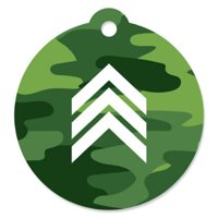 Camo Hero - Army Military Camouflage Party Favor Gift Tags (Set of 20)