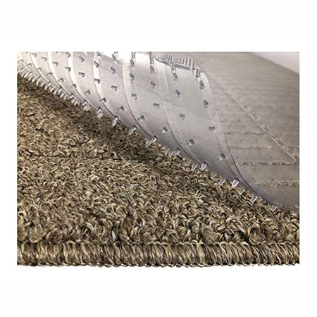 NK HOME Ribbed Multi Grip High-spike Clear Plastic Runner Rug Carpet Protector Mat Clear Runner Rug Carpet Protector Mat