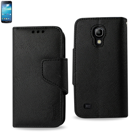 REIKO SAMSUNG GALAXY S4 MINI 3-IN-1 WALLET CASE IN BLACK