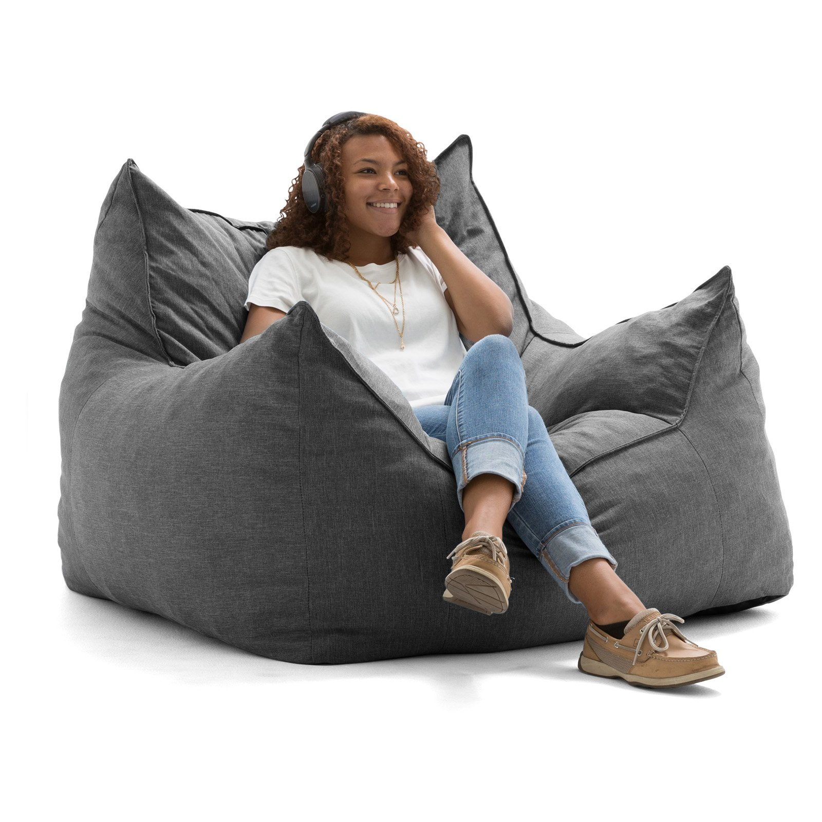Lux by Big Joe Imperial Lounger Union Bean Bag