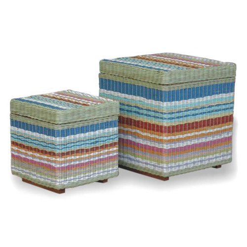 Funstripes Square Storage Stool - 2 pack