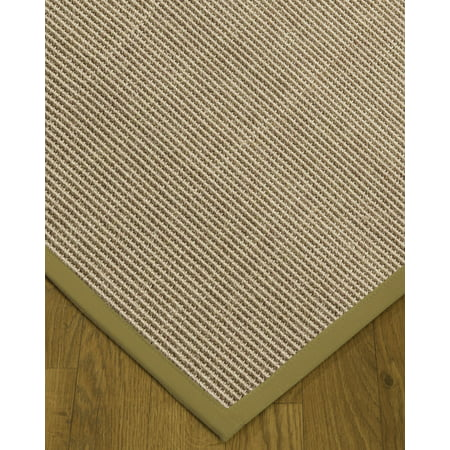 "NaturalAreaRugs Blair Custom Sisal Rugs (2' 6"" x 12"") Sand Border"
