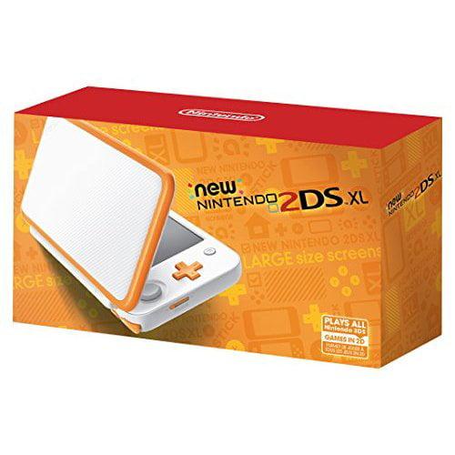 Refurbished Nintendo New 2DS XL White Orange Multi-Color