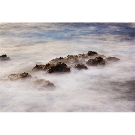 Ocean At Sunrise Long Exposure Blurred Water Poster Print by Design Pics Vibe, 34 x 22 - Large - image 1 of 1