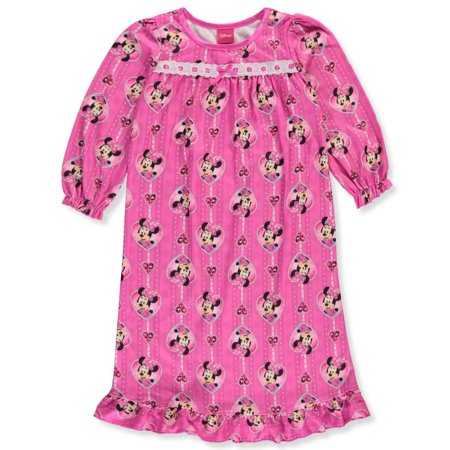 Disney Minnie Mouse Little Girls' Toddler Nightgown (Sizes 2T - - Christmas Nightgowns For Toddlers