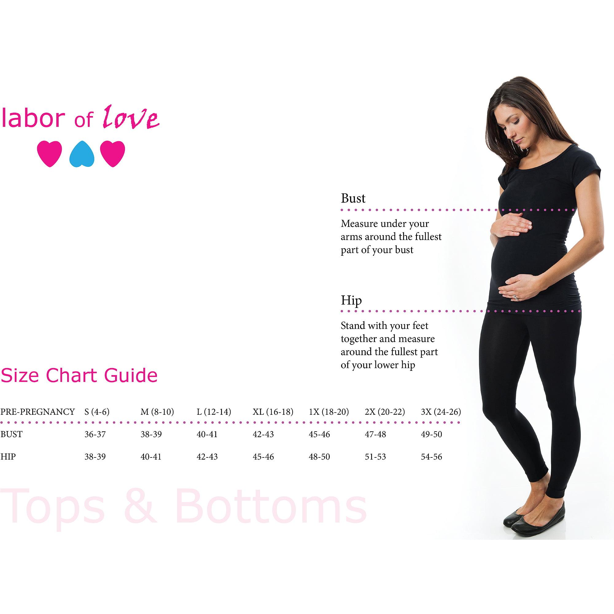 Labor of Love Maternity Striped Vneck Tunic