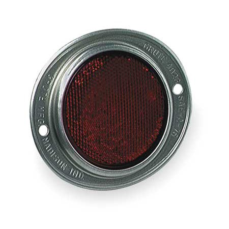 """grote 40232 3"""" red two-hole mounting reflector"""