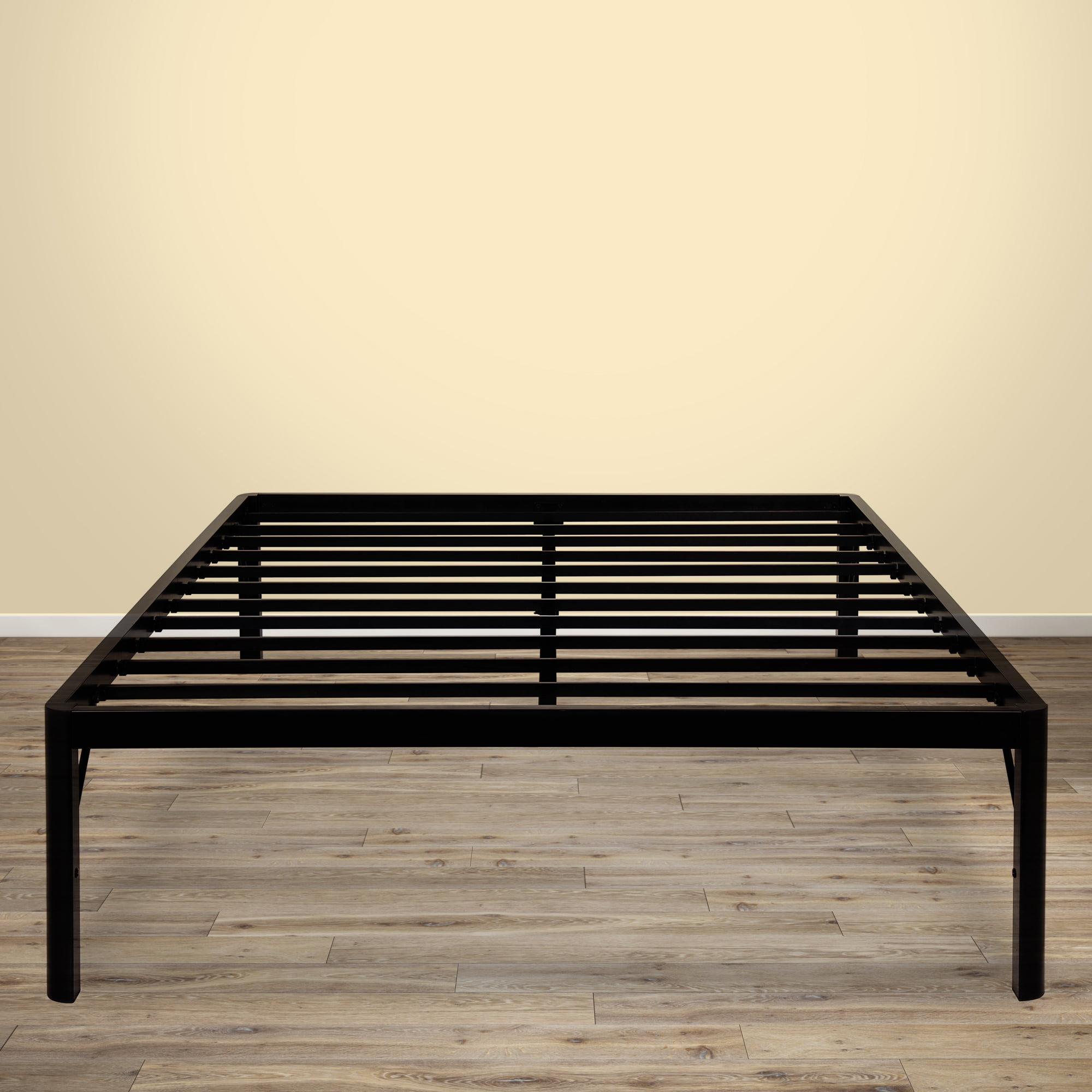 granrest 18 inch tall round edge platform metal bed frame with steel slat grs 3500 - Steel Frame Bed