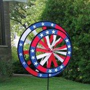 Patriotic Garden Wind Spinner - Saturn's Rings