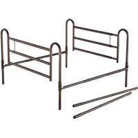 Essential Medical Supply Powder Coated Home Bed Rails with Extender