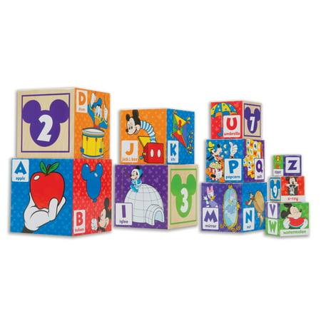 Filled Baby Blocks - Melissa & Doug Mickey Mouse & Friends Nesting & Stacking Blocks Baby Toy