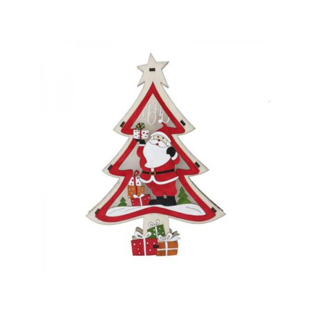 VICOODA Wooden Christmas Color Light,LED Wooden Star Lights Lit Christmas Holiday, Home, Room, Living Room, Table Decorations ()