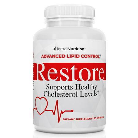 Restore - Cholesterol Lowering Supplement | Advance Lipid Control | One Bottle 60 Capsules