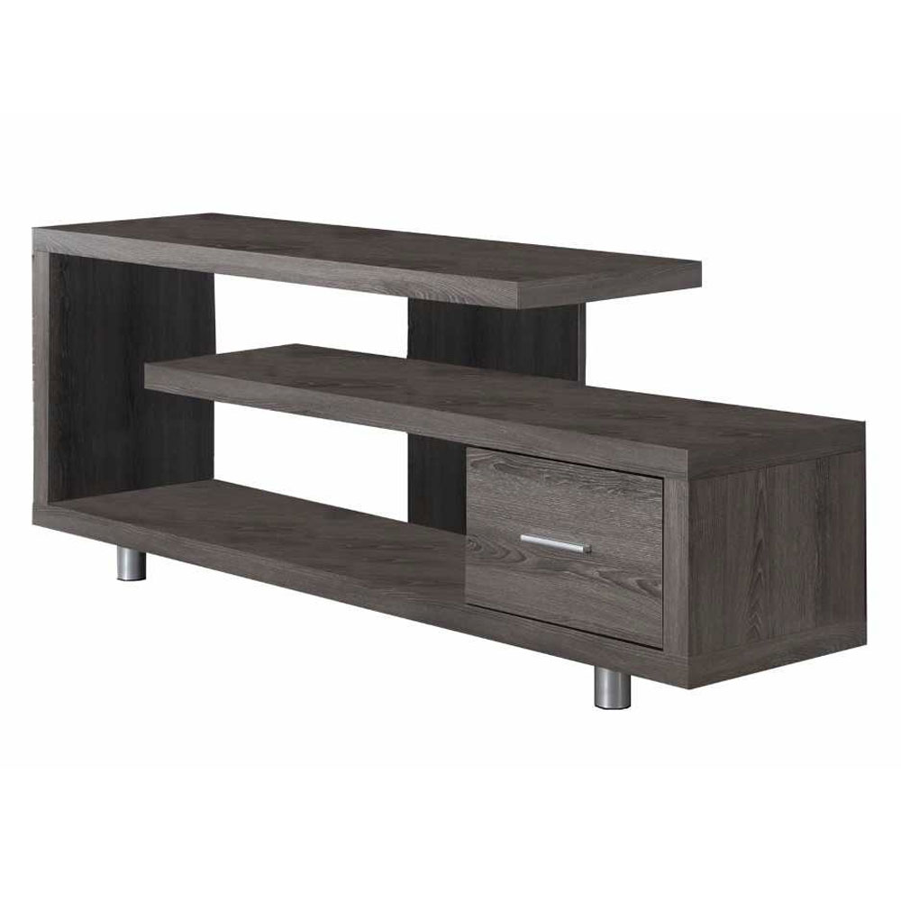 """Monarch Tv Stand White With 1 Drawer For TVs Up To 47""""L"""