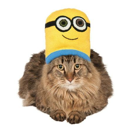 Despicable Me Minions Bob Knit Hat For Pet Cat Costume Accessory (Despicable Me Minion Hat)