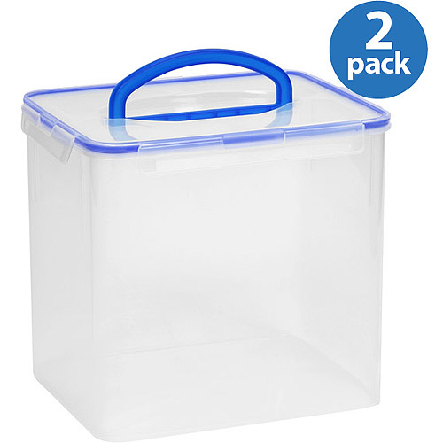 walmart kitchen storage containers snapware airtight plastic 40 cup food storage container w 6987