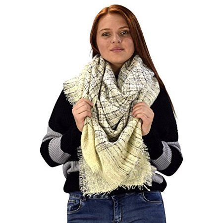 090254664 Peach Couture - Peach Couture Multicolor Marled Oversized Blanket Scarf  Shawl Wrap Poncho - Walmart.com