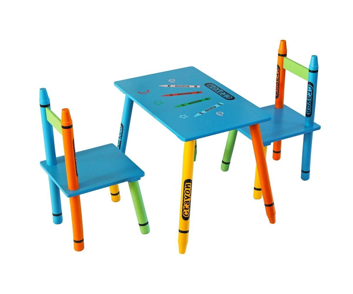 Toddler Size   Bebe Style Kids Wooden Table And Chair Set For Kids   Crayon  Theme