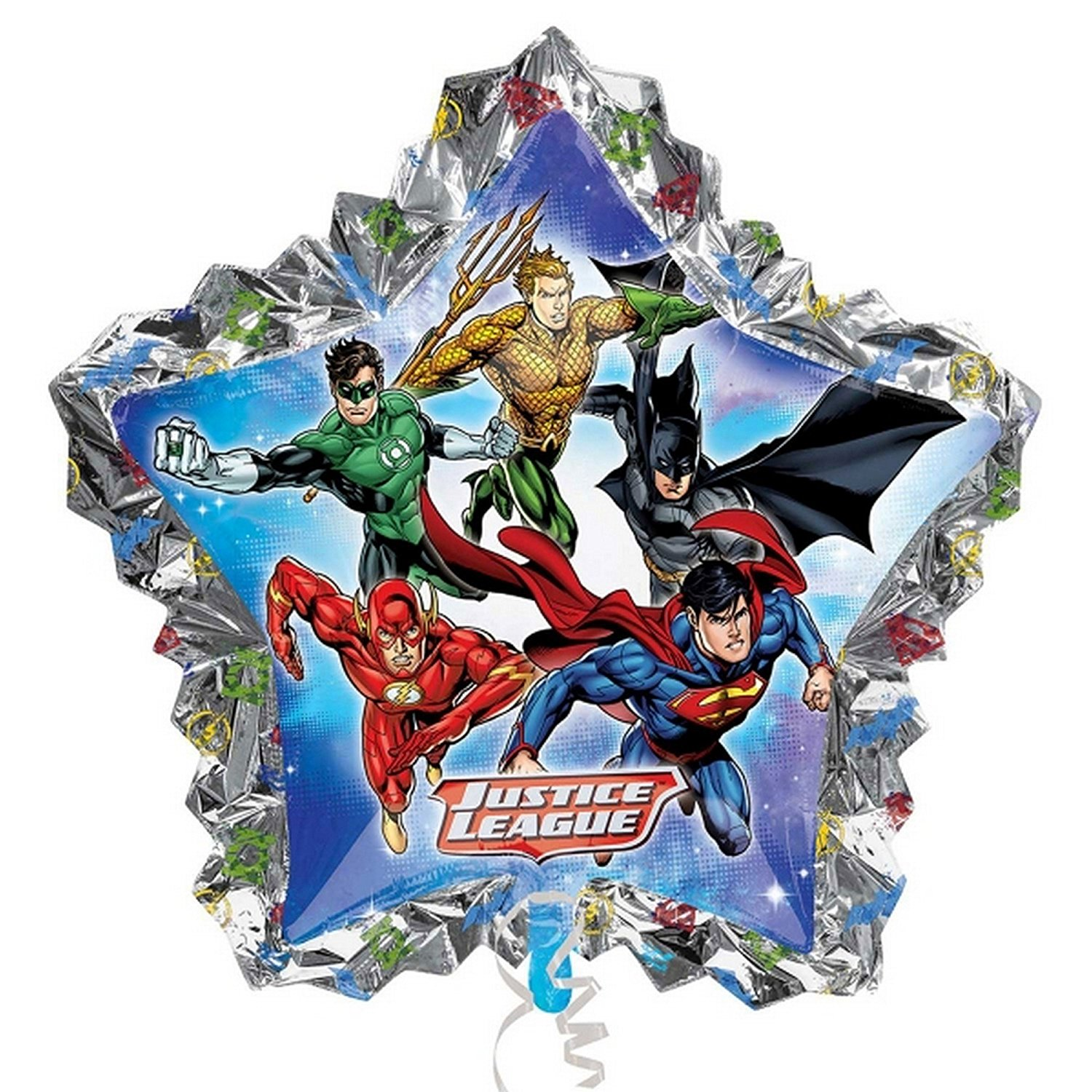 "XL 34"" DC Justice League Mylar Foil Balloon Superhero Team Party Decoration"