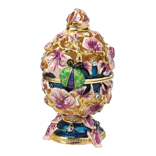 Design Toscano The Royal Garden Ladybug Enameled Egg in Lavender
