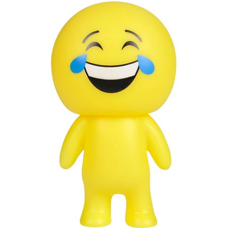 Yellow Crying And Laughing Emoticon Emoji Squeaky Squeeze Figure Relief Toy](Laughing With Tears Emoji)