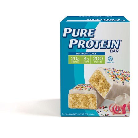Full Bar Diet Bars (Pure Protein Bar, Birthday Cake, 20g Protein, 6 Ct)