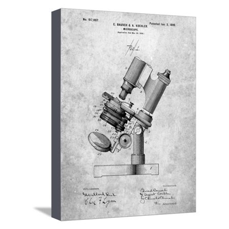Bausch and Lomb Microscope Patent Stretched Canvas Print Wall Art By Cole Borders Bausch And Lomb Microscopes
