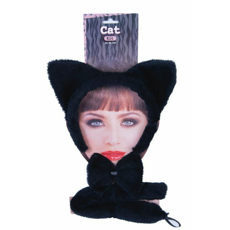 Halloween Black Cat Dress Up Kit - Halloween Black Cat Makeup Ideas